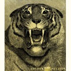 Тигр - картина из золота с изображением хищных кошек