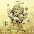 Рождественский ангелочек - картина из сусального золота