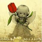 Картина из сусального золота Весенний ангелок