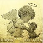 Картина из сусального золота Ангел-хранитель