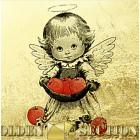 Картина из золота - Ангелочек с яблочками