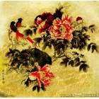 Картина  на сусальном золоте с изображением  Сливы Майхоа