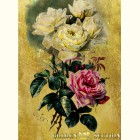 Картина  на сусальном золоте с изображением Ветки с Розами
