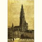 Картина с видом кафедрального собора в Антверпене