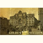 Золотая картина с изображением фонтана Треви в Риме