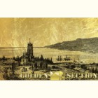 Картина из сусального золота с видом старой Ялты