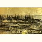 Подарочная картина с видом Одессы и одесского порта