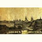 Картина из сусального золота с видом старого Архангельска