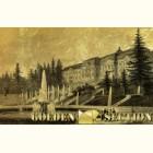 Картина из сусального золота с видом дворца в Петергофе