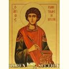 Святой Пантелеймон целитель икона из сусального золота