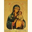 Неувядаемый цвет икона Божией Матери на сусальном золоте