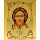 Спас на убрусе - икона из сусального золота