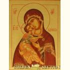Владимирская икона Божией Матери из сусального золота