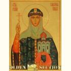 Святая равноапостольная княгиня Ольга икона из сусального золота