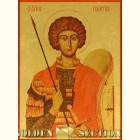 Георгий Победоносец икона из сусального золота высшей пробы