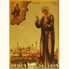 Святая блаженная Матрона Московская икона из сусального золота