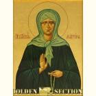 Матрона Московская икона из сусального золота