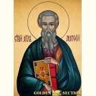 Святой апостол Матфей икона из сусального золота