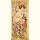 Альфонс Муха - Изумруд (Картина из сусального золота)