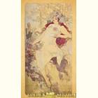 Альфонс Муха - Осень (Картина из сусального золота)