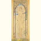 Альфонс Муха - День (Картина из сусального золота)