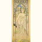 Альфонс Муха - Утро (Картина из сусального золота)