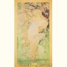 Альфонс Муха - Весна (Картина из сусального золота)