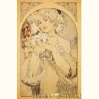 Альфонс Муха - Цветок (Картина из сусального золота)
