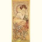 Альфонс Муха - Топаз (Картина из сусального золота)