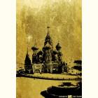 Золотая картина Собор Василия Блаженного