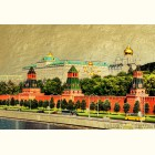 Московский кремль - гравюра на сусальном золоте