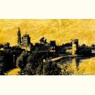 Картина на сусальном золоте Новодевичий Монастырь
