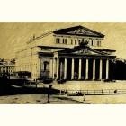 Большой театр - картина из сусального золота