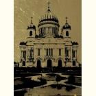 Картина из золота Храм Христа Спасителя