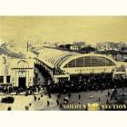 Москва Арбатский рынок - картина из сусального золота