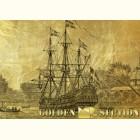 Картина из золота Парусник