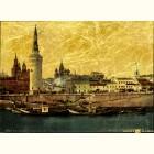 Москворецкая набережная - картина из сусального золота