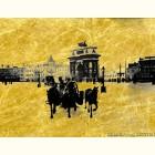 Триумфальные ворота - картина из сусального золота