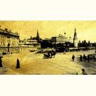 Кремлёвская площадь - картина из сусального золота