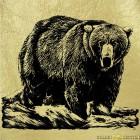 Золотая картина Бурый Медведь