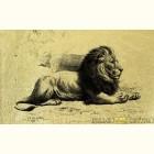Золотая картина Спящий царь зверей