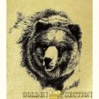 Медведь - картина из золота с изображением Медведей