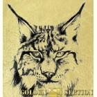 Рысь- картина из сусального золота с изображением хищных кошек