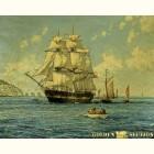 "Картина из золота""Морской Пейзаж"" Даусон Монтегю"